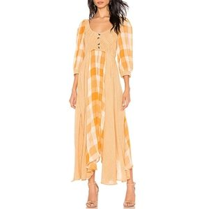 Free People Our Friends Maxi Midi Dress Boho Xs